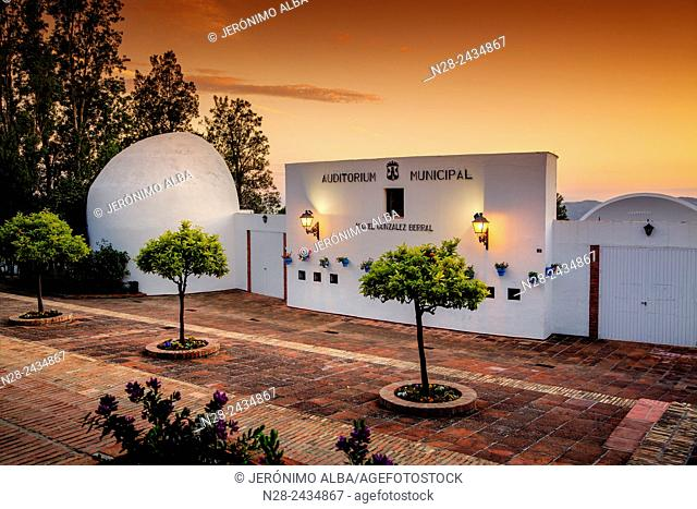 Auditorium, white village, Mijas, Costa del Sol, Andalusia, Spain