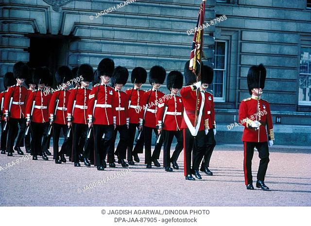 Guards changing , London , U.K. United Kingdom England