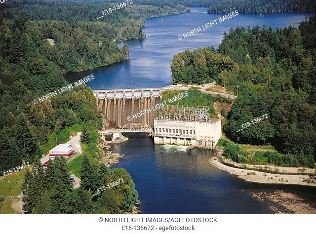 Ruskin dam and powerhouse, Stave River. Mission, British Columbia, Canada