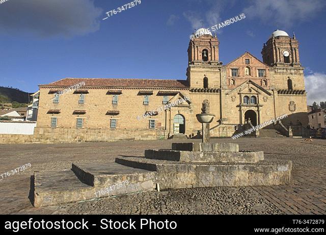The Convento de los Franciscanos monastery and Basílica Menor in Monguí, Boyaca, Colombia