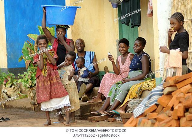 village family scene near salima malawi
