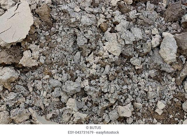 dry gray brown background of earth and sand