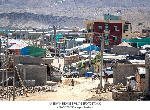 A small Ethiopian town, Danakil Depression , Ethiopia