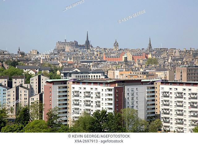Cityscape View of Edinburgh; Scotland