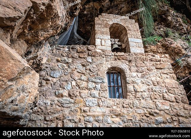 Bell in Hermitage of Our Lady of Hawqa in Kadisha Valley also called Holy Valley in North Governorate of Lebanon