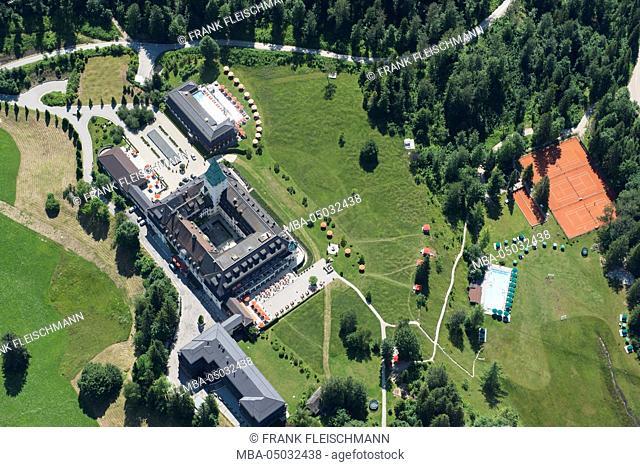 Germany, Elmau, Garmisch-Partenkirchen, Bavarian Oberland region, region of Wetterstein Mountains, Schloss Elmau (castle)