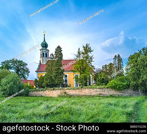 Church Maria am Wasser (Mary By The Waters) in Hosterwitz, Dresden, Saxony, Germany