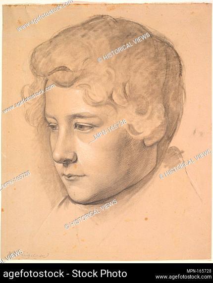 Portrait of a Young Man. Artist: Wilhelm von Kügelgen (German, St. Petersburg 1802-1867 Ballenstedt); Date: mid-19th century; Medium: Black chalk