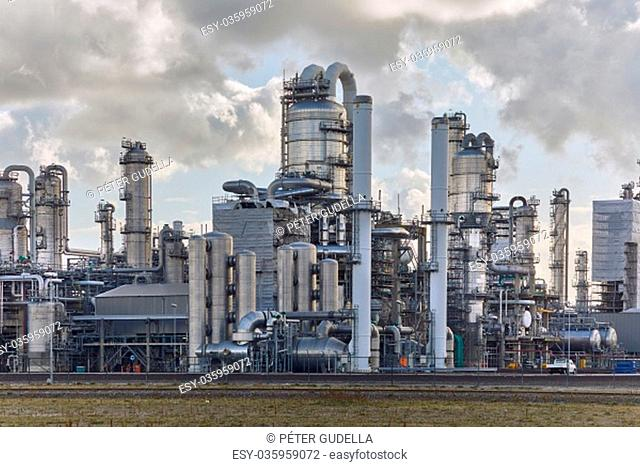 Chemical processing plant complex smoking