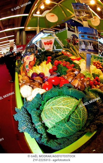 Vegetable market in the Paris annual International Agricultural Show