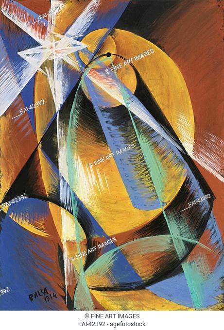 Mercurio che passa davanti al sole visto dal cannocchiale (Study) by Balla, Giacomo (1871-1958)/Gouache on paper/Futurism/1914/Italy/Private...