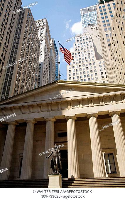 Federal Hall, Wall Street, New York City, USA