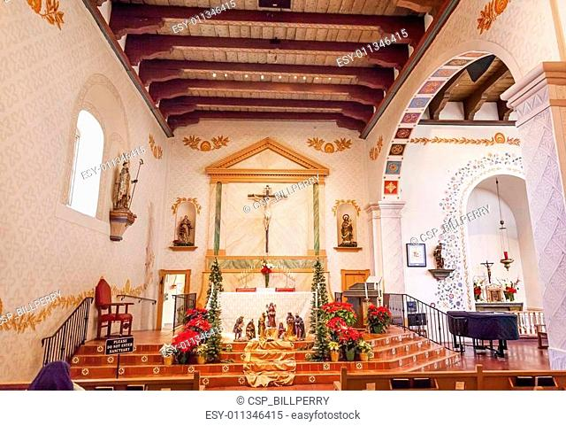 Mission San Luis Obispo de Tolosa California Basilica Cross Alta