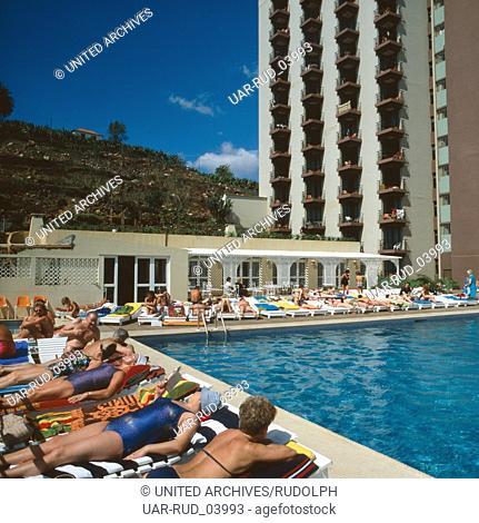 Urlaub im Hotel Dorisol Mimosa in Funchal, Madeira, Portugal 1980. Vacation in Hotel Dorisol Mimosa in Funchal, Madeira, Portugal 1980