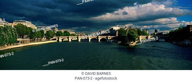 Ile de la Cité, Pont Neuf, Seine River, Paris, France