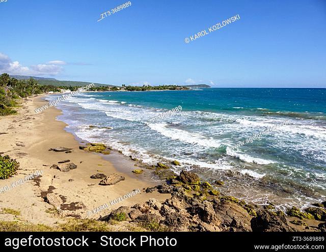 Frenchman's Beach, elevated view, Treasure Beach, Saint Elizabeth Parish, Jamaica