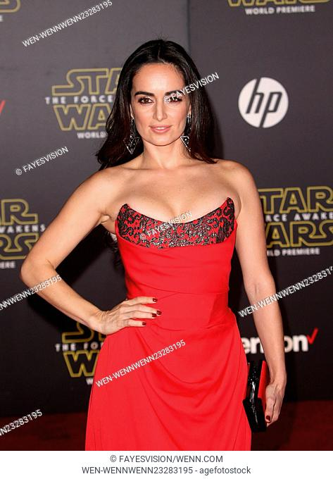 """Premiere Of Walt Disney Pictures And Lucasfilm's """"""""Star Wars: The Force Awakens"""""""" Featuring: Ana de la Reguera Where: Hollywood, California"""