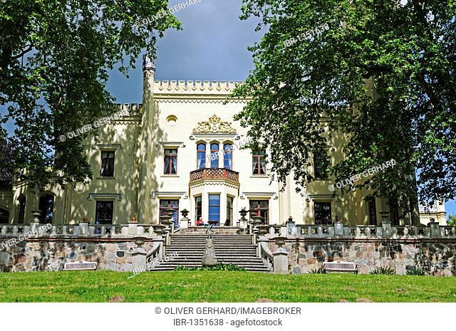 Castle and hotel Schloss Kittendorf, Mecklenburg-Western Pomerania, Germany, Europe