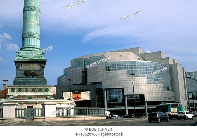 Paris France Place De La Bastille Opera