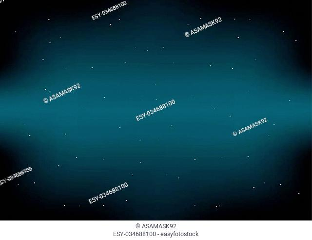 Dark Space Green Blue Background Vector Illustration