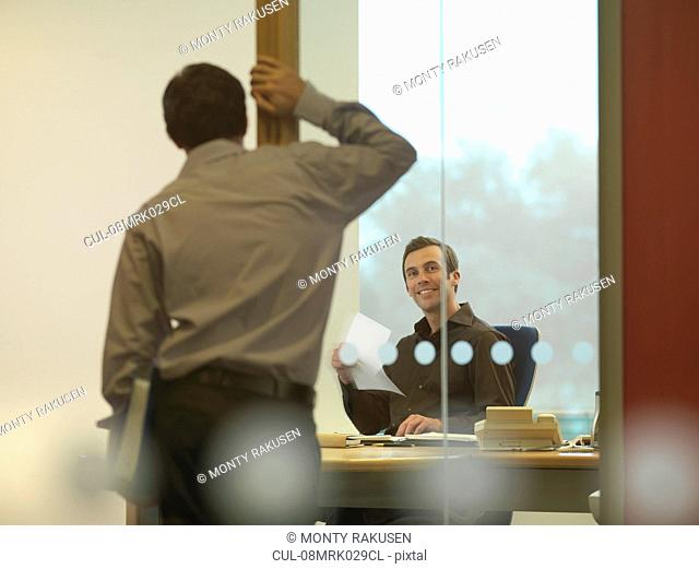 Office staff chatting