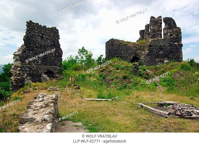 Sumburk Castle Ruin near Klasterec nad Ohri, Usti nad Labem Region, Czech Republic