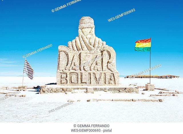 Bolivia, Atacama, Altiplano, Salar de Uyuni, Dakar monument