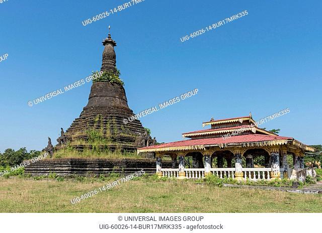 Mong Khong Shwe Du, Mongkhong Shwedu Pagoda, Mrauk U, Burma, Myanmar