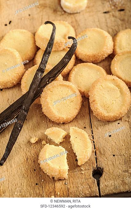 Diamant biscuits with vanilla (French butter biscuits)