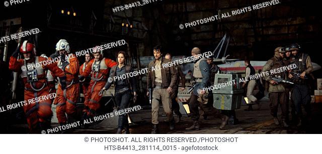 """""""Rogue One: A Star Wars Story"""" (2016) L to R: (Felicity Jones) & (Diego Luna)"