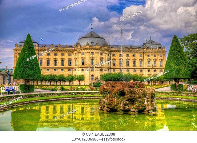 Wurzburger Residenz (Residence of Wurzburg), Wurzburg, Bayern, Germany