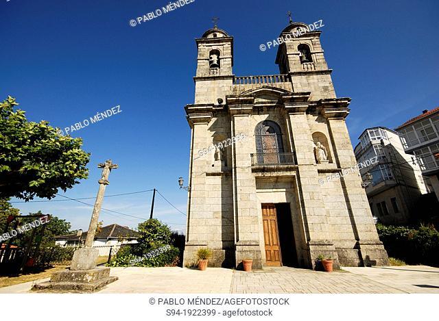 Church of Santa Isabel in Castro Caldelas, Orense province, Spain