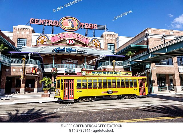 Florida, Tampa, Ybor City, historic neighborhood, Centro Ybor complex, shopping, TECO Line street car