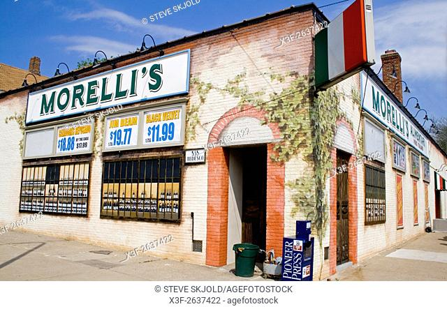 Morellis Alimentari liqueur store and grocery. St Paul Minnesota USA