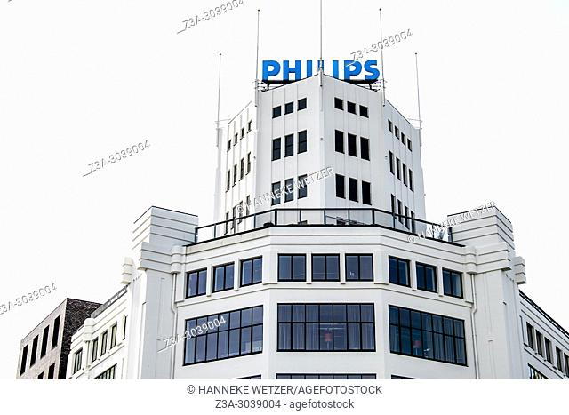 Historical architecture of the Philips Lighting factory in Eindhoven, the Netherlands