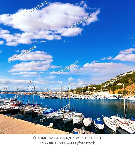 Javea Xabia marina Club Nautico in Alicante Mediterranean of spain
