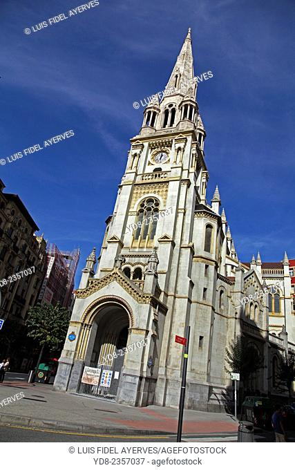 Church of San José de la Montaña, Bilbao, Biscay, Basque Country, Spain