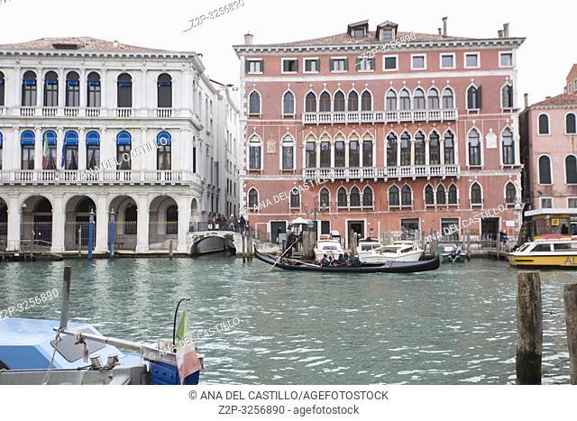 Venice, Veneto, Italy : Cityscape at a winter morning