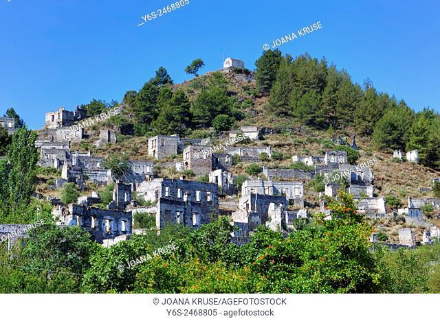 Kayakoey, ghost town, Fethiye, Mugla, Turkey