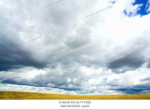 Dramatic sky, Lumsden, Saskatchewan, Canada