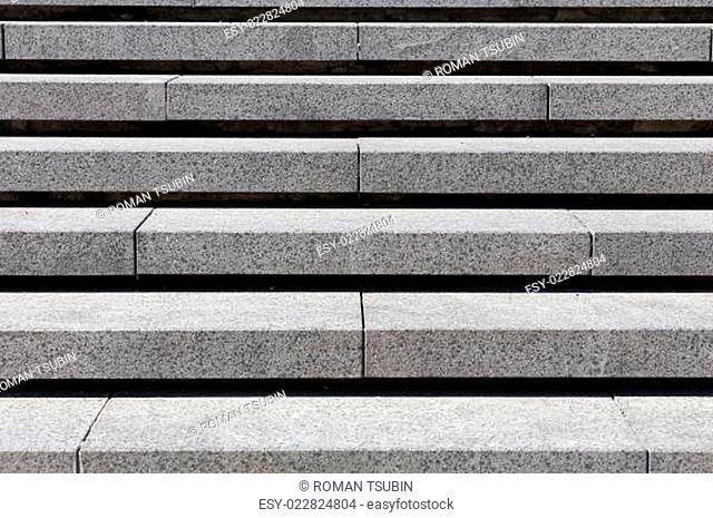 detail of gray granite stairs