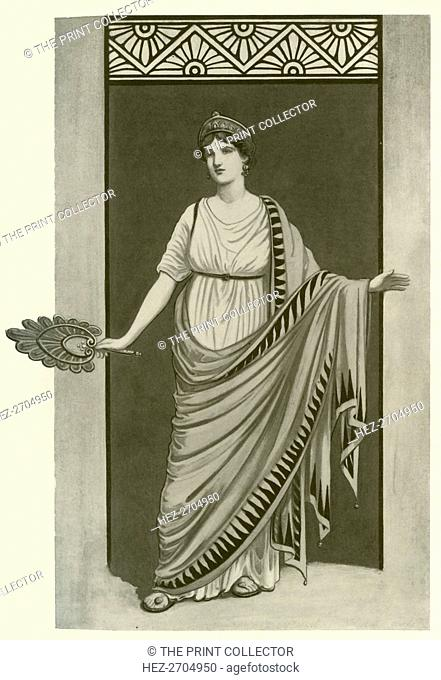 'The Himation. A Garment Worn in Greece and Rome Between 550 B.C. and 300 A.D.', 1924. Creator: Herbert Norris