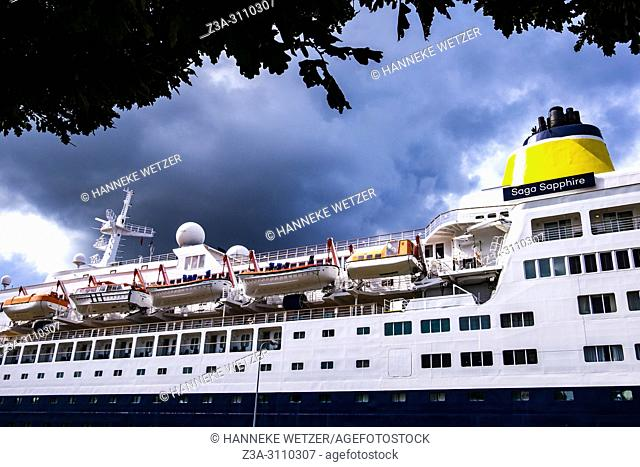 Detail of a cruiseship in Riga, Latvia, Baltic States