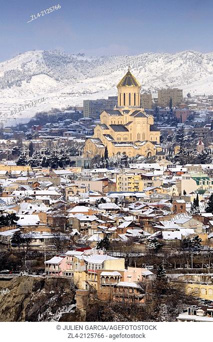 Holy Trinity Cathedral of Tbilisi. Georgia, Caucasus, Tbilisi