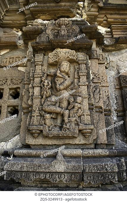 Sculptures, Anandeshwar temple, Lasur, Daryapur Taluka, Amravati District, Maharashtra, India