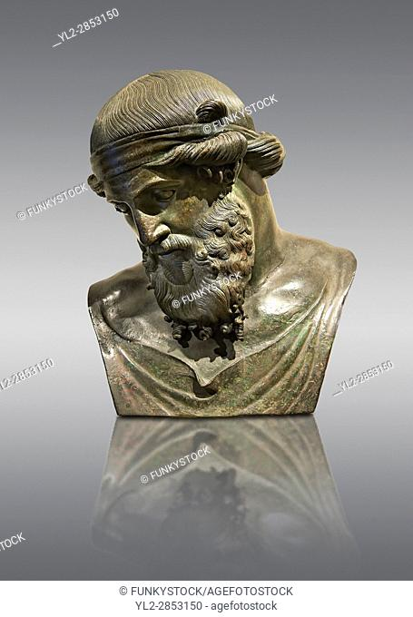 Roman bronze sculpture of Dinoysus - Plato, Museum of Archaeology, Italy