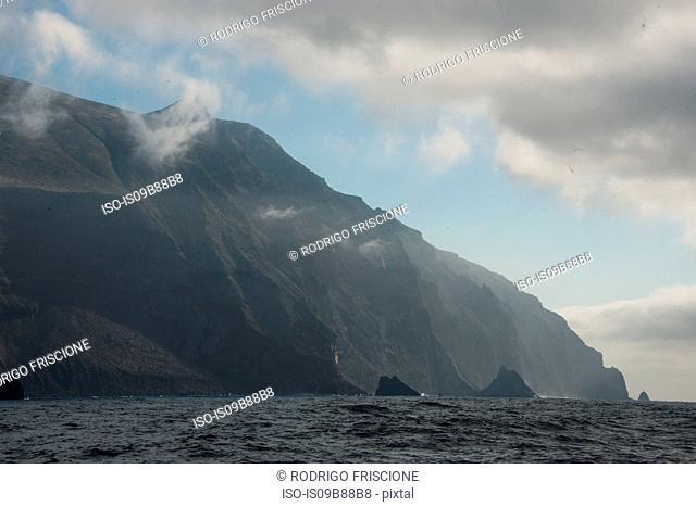 Aggressive coast line and cliffs, Guadalupe Island, Mexico
