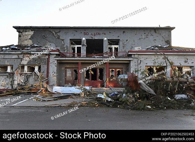 Tornado hit village Moravska Nova Ves and several other villages in the Breclav district, South Moravia, Czech Republic, on Thursday, June 24, 2021