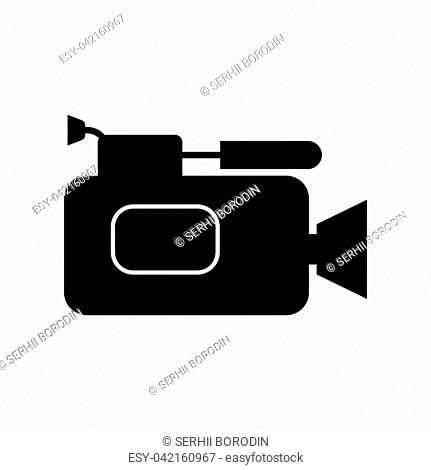 Videocamera it is black color icon