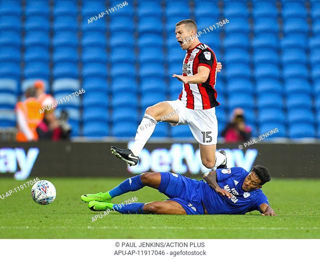2017 EFL Championship Football Cardiff v Sheffield United Aug 15th. August 15th 2017, Cardiff City Stadium, Cardiff, Wales; EFL Championship Football